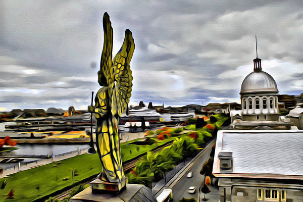 Photograph - Montreal Angel by Alice Gipson