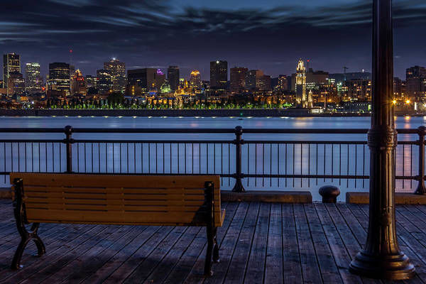 Quebec City Photograph - Montreal At Night by Jean Surprenant