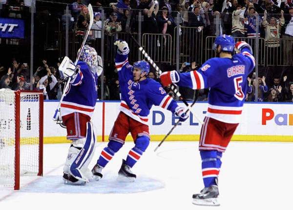 Nhl Photograph - Montreal Canadiens V New York Rangers - by Mike Stobe