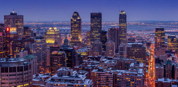 Photograph - Montreal City From Mont Royal Viewpoint by Pierre Leclerc Photography