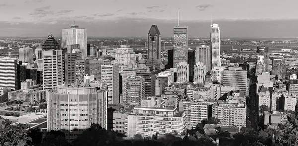Photograph - Montreal City Skyline In Black And White by Pierre Leclerc Photography