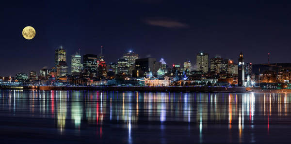 Montreal Night Art Print by