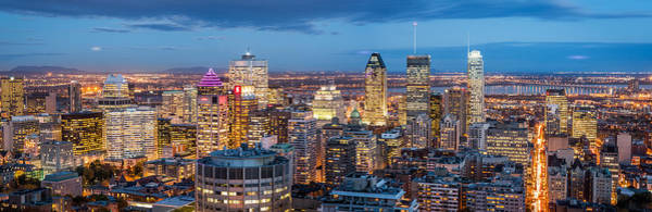 Quebec City Photograph - Montreal Panorama by Mihai Andritoiu