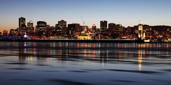 Quebec City Photograph - Montreal Skyline And St-lawrence River by Nino H. Photography