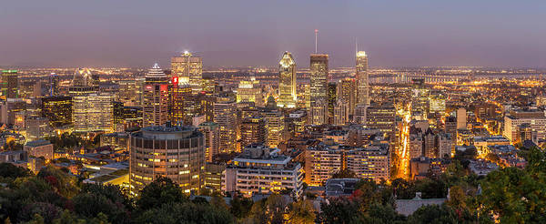 Photograph - Montreal Skyline At Night by Pierre Leclerc Photography