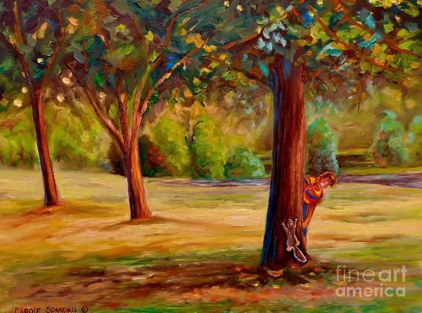 Painting - Montreal Westmount Park Urban Scene by Carole Spandau