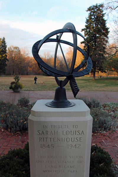 Dumbarton Wall Art - Photograph - Montrose Park's Armillary Sphere by Cora Wandel