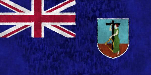 Carribean Islands Digital Art - Montserrat Flag by World Art Prints And Designs