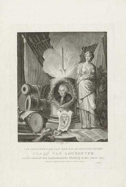 Allegorical Figure Drawing - Monument For Isaak Van Goudoever, 1793, Franois Joseph by Fran?ois Joseph Pfeiffer I