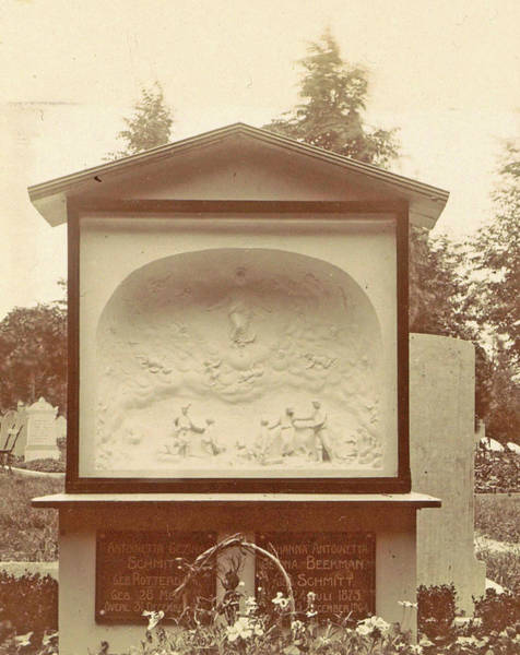 Wall Art - Drawing - Monument On A Cemetery, Anonymous by Artokoloro