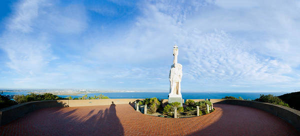 Cabrillo Photograph - Monument On The Coast, Cabrillo by Panoramic Images