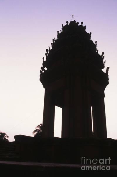 Phnom Penh Wall Art - Photograph - Monument Phnom Penh Cambodia by Ryan Fox