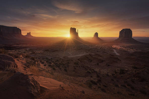 Rock Formation Photograph - Monument Sunrise. by Juan Pablo De