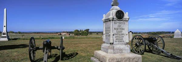 Gettysburg Battlefield Photograph - Monument To Battery B, First New York by Panoramic Images
