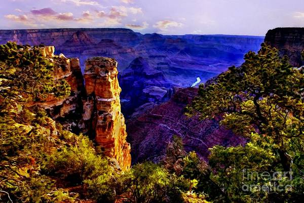 Digital Art - Monument To Grand Canyon  by Bob and Nadine Johnston