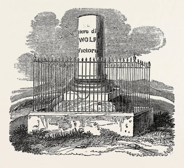 Quebec City Drawing - Monument To Wolfe by Litz Collection