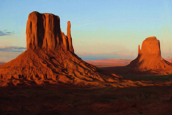 Outdoors Painting - Monument Valley 2 by Inspirowl Design