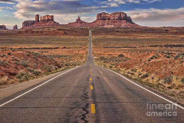 Navajo Indian Reservation Photograph - Monument Valley And Highway 163 by Colin and Linda McKie