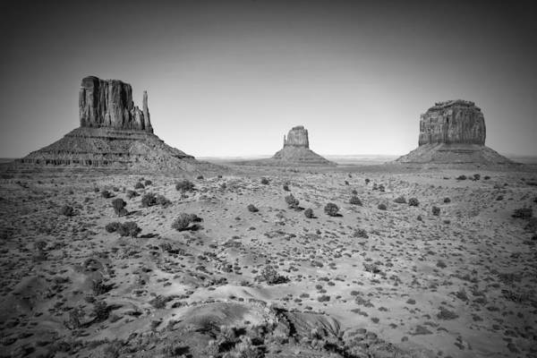 Geologic Formation Photograph - Monument Valley Bw by Melanie Viola