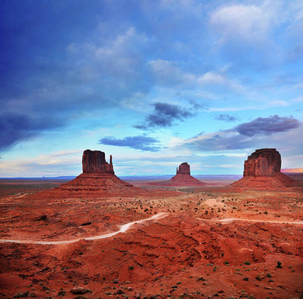 Photograph - Monument Valley Cool Light After Sunset by Utah-based Photographer Ryan Houston