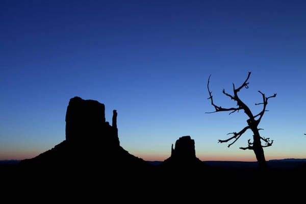 The Mitten Photograph - Monument Valley Dawn With Mittens And A by Jeff Hunter
