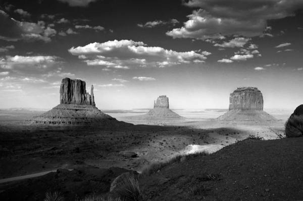 Photograph - Monument Valley In Black And White by Lucinda Walter