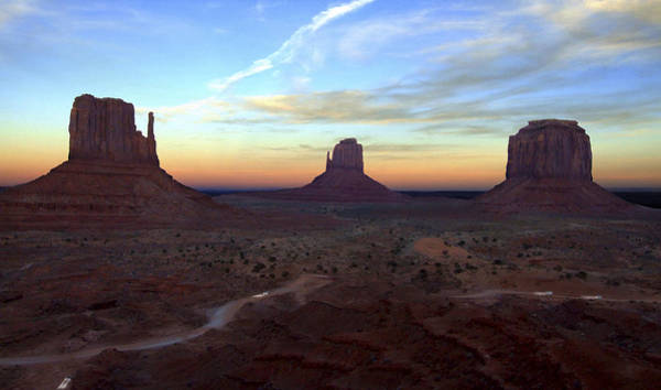 Monument Valley Photograph - Monument Valley Just After Sunset by Mike McGlothlen
