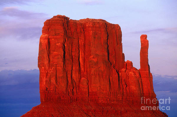 Photograph - Monument Valley Mesa At Sunset by Adam Sylvester