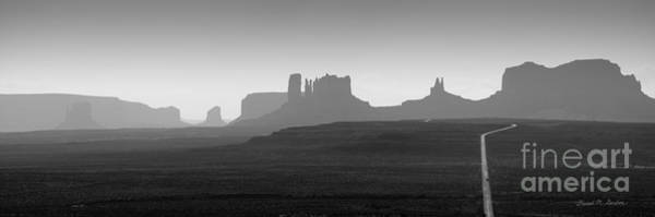 Photograph - Monument Valley Panorama I by Dave Gordon