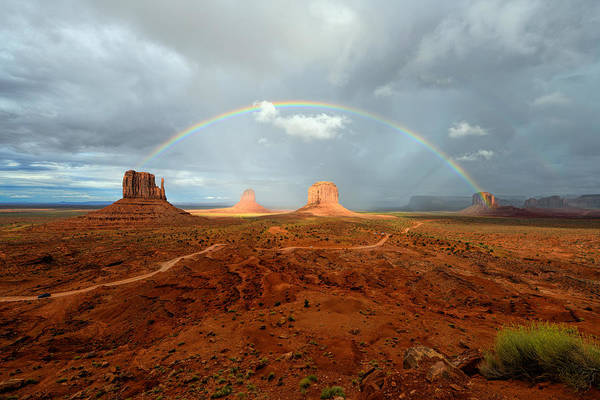 Photograph - Monument Valley Rainbow by Mark Whitt
