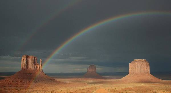 The Mitten Photograph - Monument Valley Rainbows 1 by Mo Barton