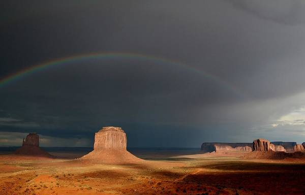 The Mitten Photograph - Monument Valley Rainbows 3 by Mo Barton