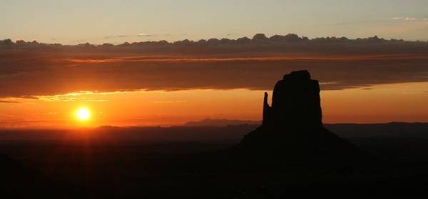 The Mitten Photograph - Monument Valley Sunrise 1 by Mo Barton