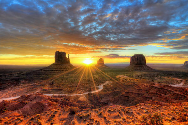 Photograph - Monument Valley Sunrise by Mark Whitt