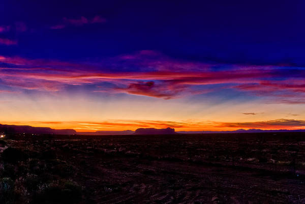 Photograph - Monument Valley Sunset by Louis Dallara