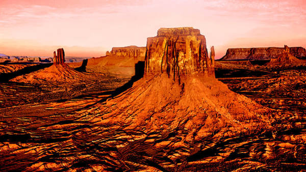 Grand Mesa Painting - Monument Valley Sunset by Bob and Nadine Johnston
