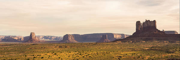 Wall Art - Photograph - Monument Valley Sunset Panorama - Arizona by Brian Harig