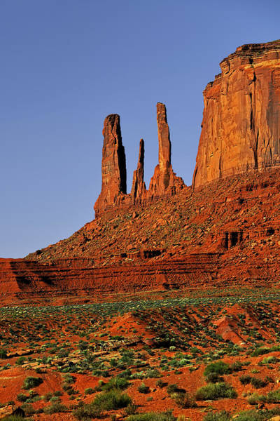 Photograph - Monument Valley - The Three Sisters by Christine Till