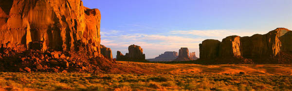 Sweeping Photograph - Monument Valley Tribal Park At Sunrise by Panoramic Images