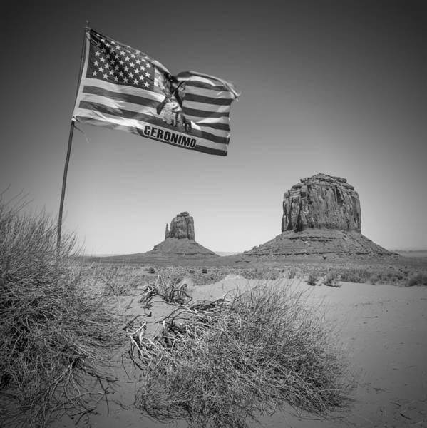 Geologic Formation Photograph - Monument Valley Usa Bw by Melanie Viola