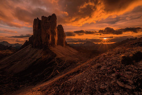 Mountain Sunset Photograph - Monumental Strike by Andreas Agazzi