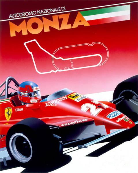 Formula One Digital Art - Monza by MGL Meiklejohn Graphics Licensing