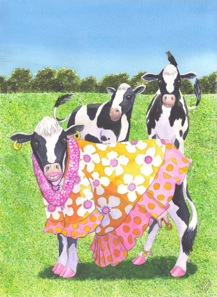 Painting - Moo Moo by Catherine G McElroy