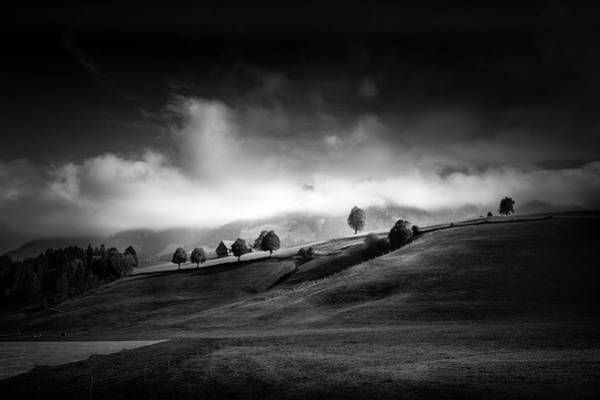 Black Cloud Photograph - Moody Autumn Day by Franz Engels