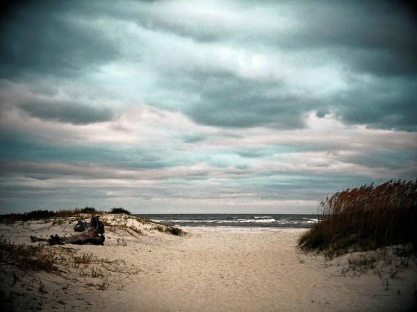 Tybee Island Photograph - Moody Beachscape by Joseph Shields