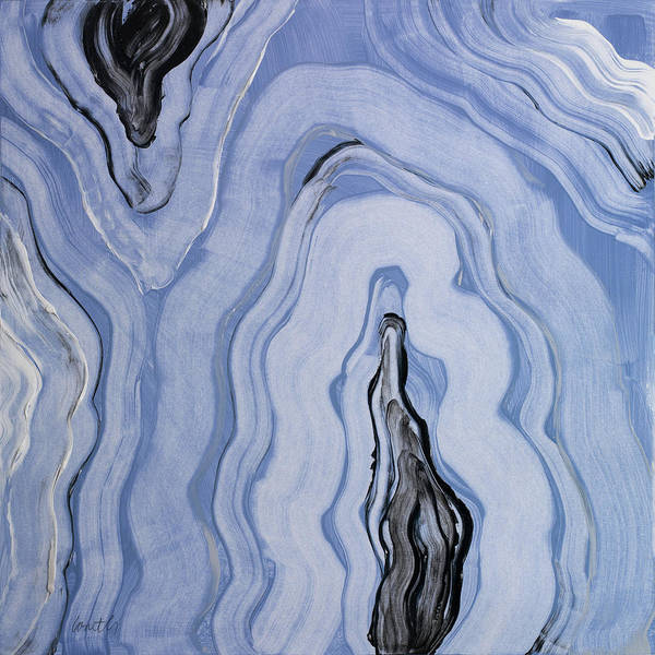 Moody Painting - Moody Blue Agate II by Lanie Loreth