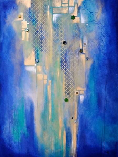 Wall Art - Painting - Moody Blues by Debi Starr