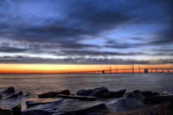 Sandy Point State Park Photograph - Moody Blues by JC Findley