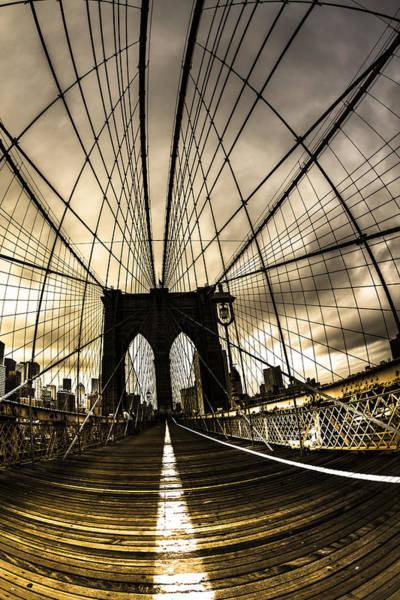 Wall Art - Photograph - Moody Brooklyn Bridge by Chris Halford