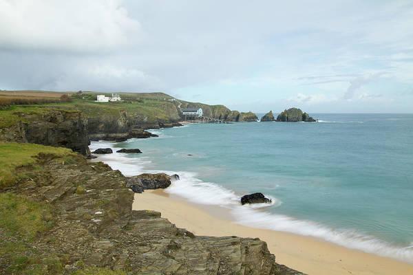 Headlands Photograph - Moody Cornish Seascape by Mattstansfield